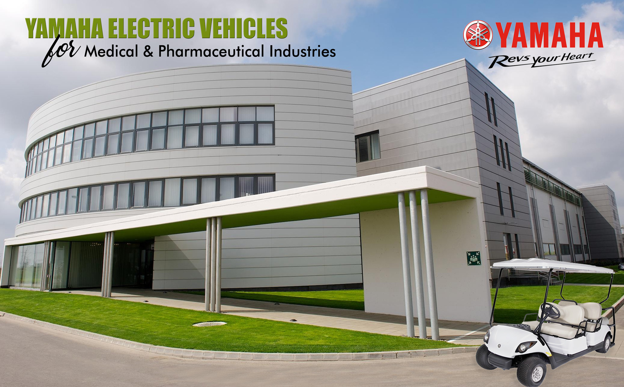 Yamaha Electric Vehicles at Pharmaceutical Industries