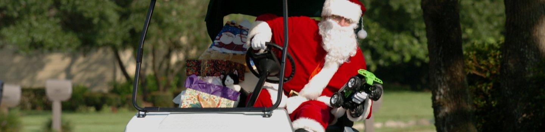 golfcart christmas decoration