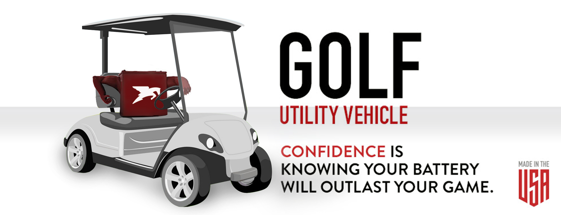 Battery for Golf and Utility vehicle