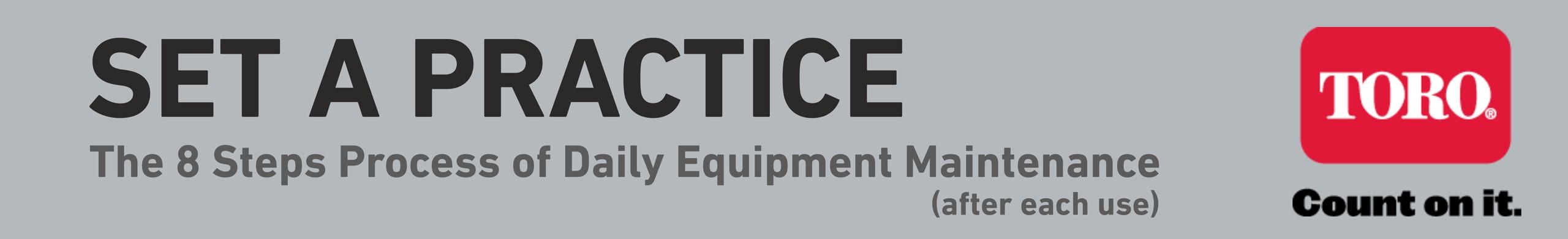 8 steps maintenance practice